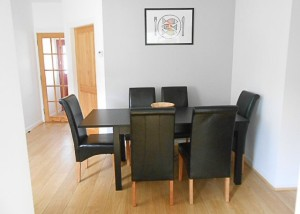Family dining area at Rosebank Holiday Cottage, Port Logan, South West Scotland