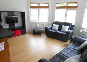 Spacious living space at Rosebank Holiday Cottage, Port Logan, South West Scotland