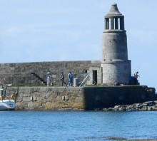 Port Logan Lighthouse, Rhins of Galloway, South West Scotland