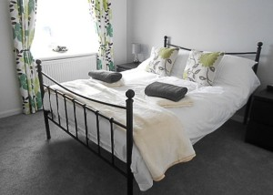 Double bedroom at Rosebank Holiday Cottage, Port Logan, Rhins of Galloway